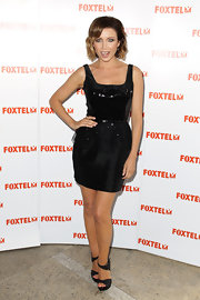 Dannii Minogue attended the launch of her TV series 'Dannii Minogue: Style Queen,' wearing a sequined LBD.