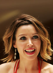 Dannii Minogue promoted her book 'Dannii: My Story' wearing lengthy lashes and lots of mascara.