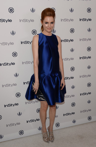 Darby Stanchfield Cocktail Dress [clothing,cocktail dress,cobalt blue,dress,fashion model,electric blue,fashion,hairstyle,little black dress,shoulder,darby stanchfield,instyle summer soiree - arrivals,instyle summer soiree,hotel,mondrian,west hollywood,california]