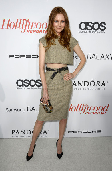 Darby Stanchfield Pumps [clothing,dress,waist,shoulder,fashion model,cocktail dress,fashion,joint,footwear,fashion design,arrivals,darby stanchfield,west hollywood,california,soho house,hollywood reporter,emmy party,the hollywood reporter]