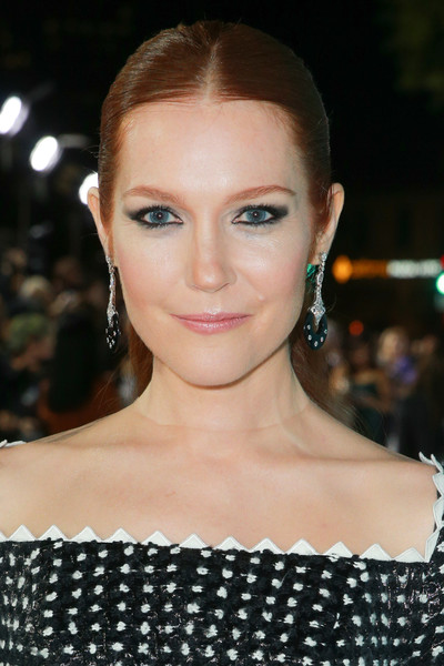 Darby Stanchfield Ponytail [hair,face,eyebrow,hairstyle,lip,beauty,skin,chin,forehead,fashion,red carpet,darby stanchfield,wonder,california,regency village theatre,lionsgate,westwood,premiere,premiere]