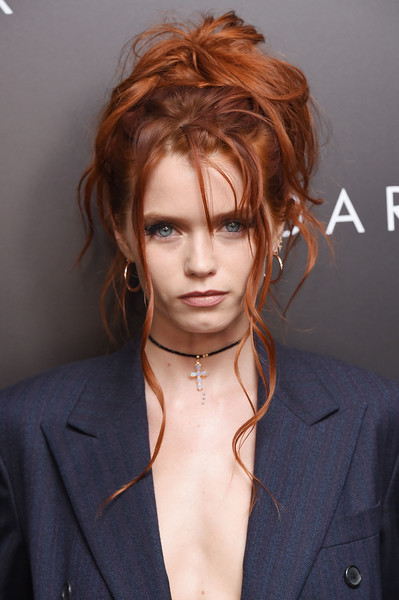 More Pics of Abbey Lee Messy Updo (1 of 8) - Abbey Lee Lookbook - StyleBistro