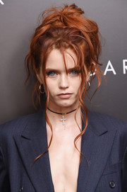 Abbey Lee rocked a big, messy updo at the New York premiere of 'The Dark Tower.'