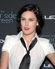 Rumer Willis showed off her soft medium curls while hitting an event in NYC.