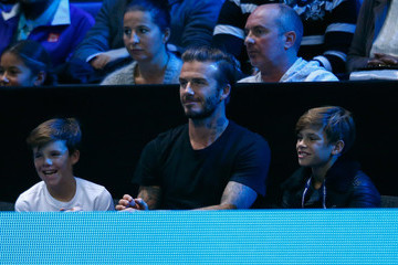 David Beckham Cruz Beckham Barclays ATP World Tour Finals - Day Seven