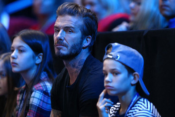 David Beckham Romeo Beckham Barclays ATP World Tour Finals - Day Seven