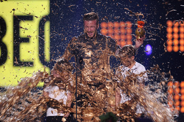 David Beckham Romeo Beckham Nickelodeon Kids' Choice Sports Awards Show