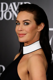 Megan Gale wore a cool slicked-back 'do during the 175th anniversary party of David Jones.