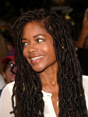 Naomie Harris kept it fun and stylish with these locs at the 'Gangsta Granny' press night.
