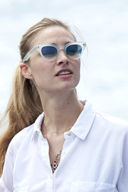 Beatrice Borromeo was spotted at the Copa Del Rey Mafre Sailing Cup wearing a casual ponytail.