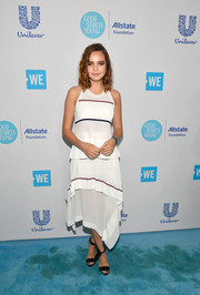 Bailee Madison looked summer-ready in a white handkerchief-hem tank dress at WE Day California.