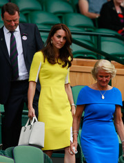 Kate Middleton made her way to the Wimbledon Championships carrying a sleek white Victoria Beckham leather tote.