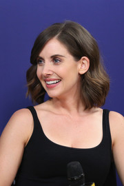 Alison Brie looked pretty with her wavy bob at the IMDb Studio.