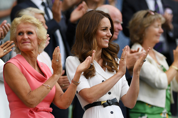 More Pics of Kate Middleton Shirtdress (1 of 17) - Dresses & Skirts Lookbook - StyleBistro [event,crowd,gesture,audience,performance,catherine,gill brook,box,duchess,support,cambridge,england,london,wimbledon,championships]