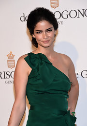 Shermine Shahrivar channeled effortless elegance with her hair styled in a loose bun at the 65th Cannes Film Fest.