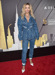 Rita Ora rocked denim on denim with this Études ensemble.