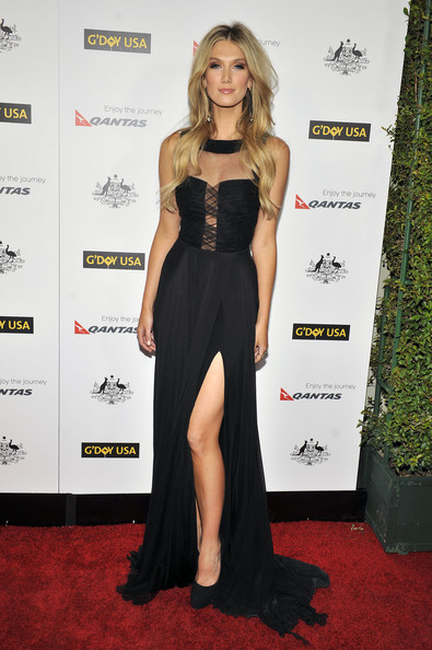 Delta Goodrem Platform Pumps