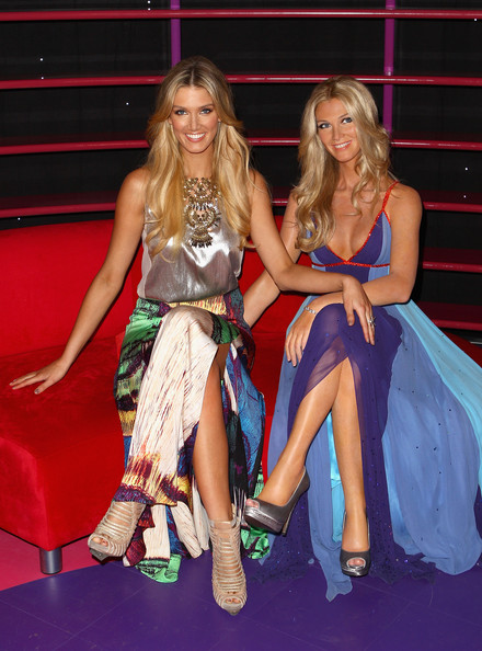 Delta Goodrem visited Madame Tussauds in Sydney wearing an ultra-chic pair of strappy nude ankle boots.