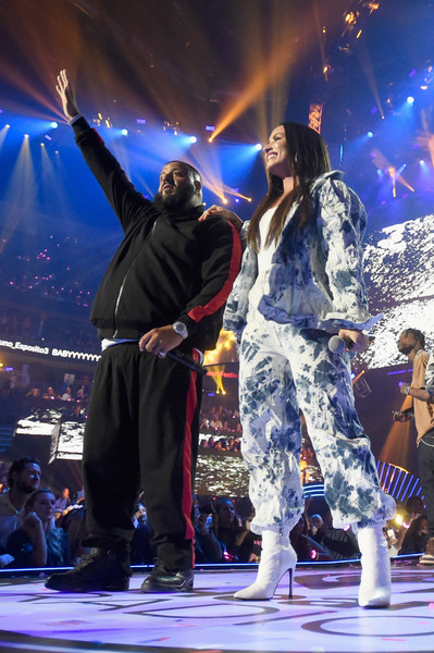 Demi Lovato Ankle Boots [night 2 - show,performance,entertainment,performing arts,stage,event,music,concert,performance art,public event,music artist,dj khaled,demi lovato,las vegas,nevada,t-mobile arena,iheartradio music festival]