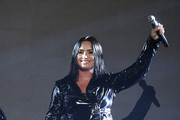 Demi Lovato Leather Coat