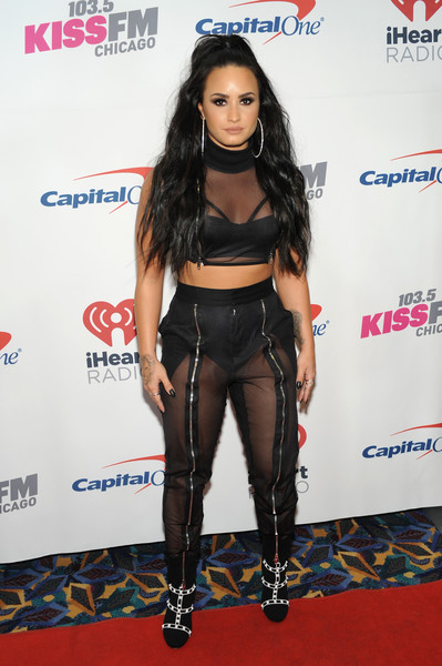 Demi Lovato High-Waisted Pants