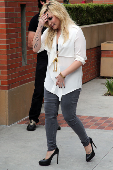 Demi Lovato Loose Blouse