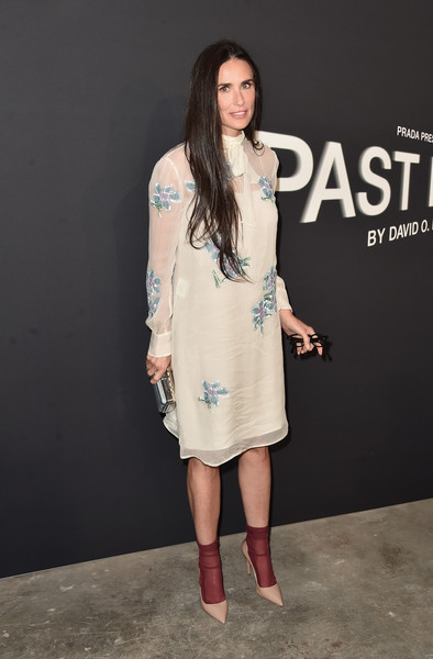 Demi Moore Embroidered Dress