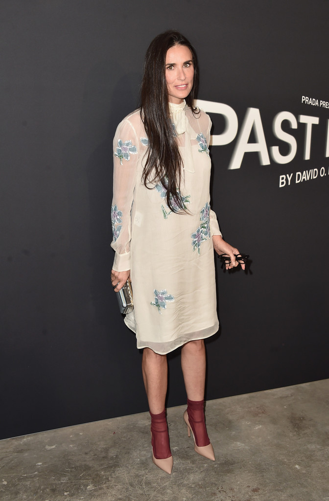 Demi Moore Embroidered Dress Demi Moore Clothes Looks