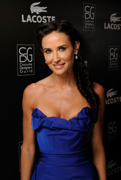 Demi Moore Long Braided Hairstyle