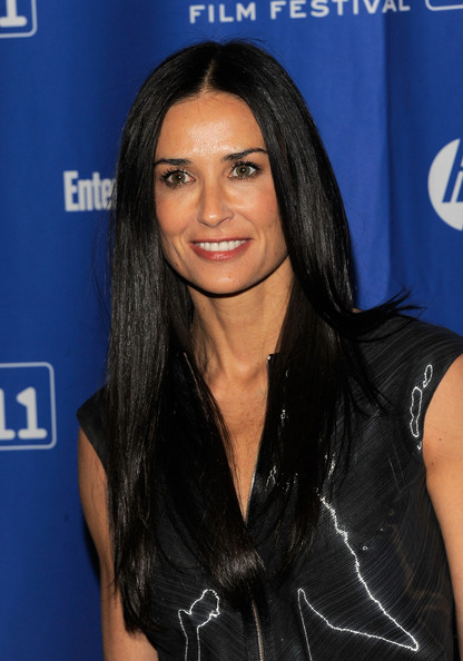 Demi Moore Long Straight Cut