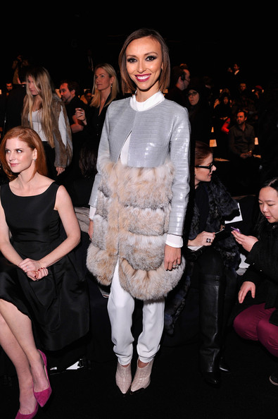 Giuliana Rancic looked fiercely chic all the way down to her nude crocodile booties.