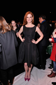 Sarah Rafferty looked ageless in this fit-and-flare LBD during the Dennis Basso fashion show.