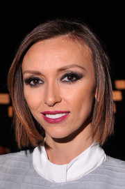 Giuliana Rancic attended the Dennis Basso fashion show wearing her hair in a sleek bob.