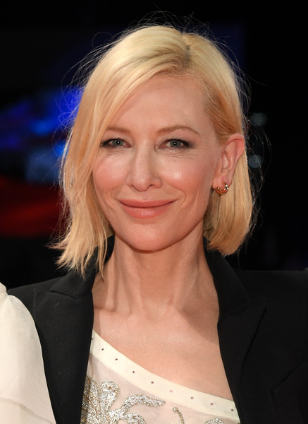 Cate Blanchett wore her hair in a slightly asymmetrical bob at the Venice Film Festival screening of 'Love After Love.'