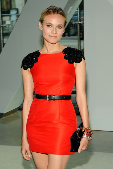 Diane Kruger Beaded Bracelet [clothing,fashion model,dress,shoulder,cocktail dress,red,fashion,lady,hairstyle,blond,alice tully hall,new york city,lincoln center,cfda fashion awards,diane kruger]