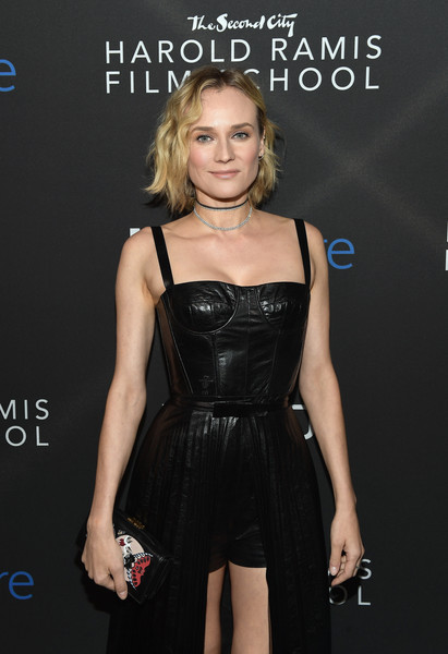 Diane Kruger Leather Clutch