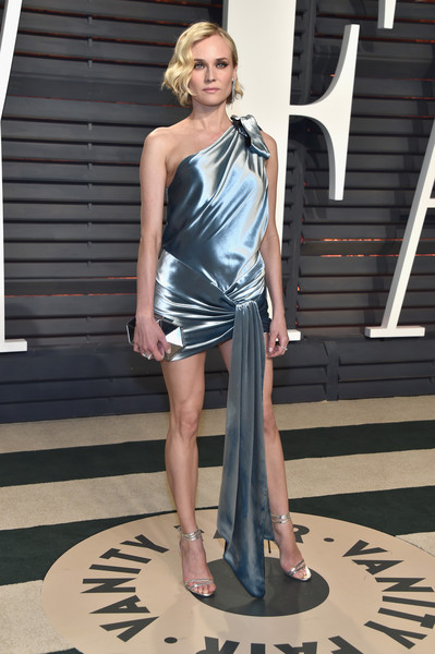 Diane Kruger Metallic Clutch