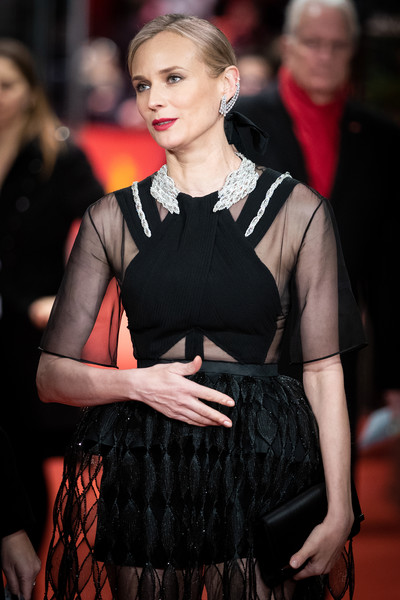 Diane Kruger Satin Clutch [the operative premiere,fashion,hairstyle,dress,event,premiere,fashion model,flooring,little black dress,carpet,fashion accessory,diane kruger,berlinale palace,berlin,germany,the operative,berlinale international film festival,premiere,berlinale international film festival berlin]