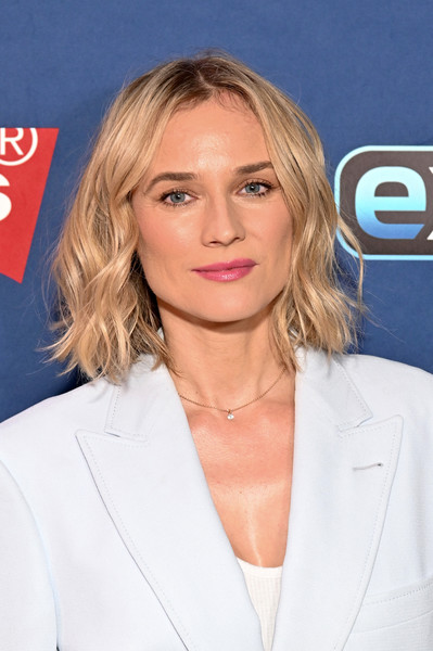 Diane Kruger Pink Lipstick [diane kruger,extra,hair,blond,face,hairstyle,chin,lip,long hair,premiere,outerwear,layered hair,the levis store times square,new york city]