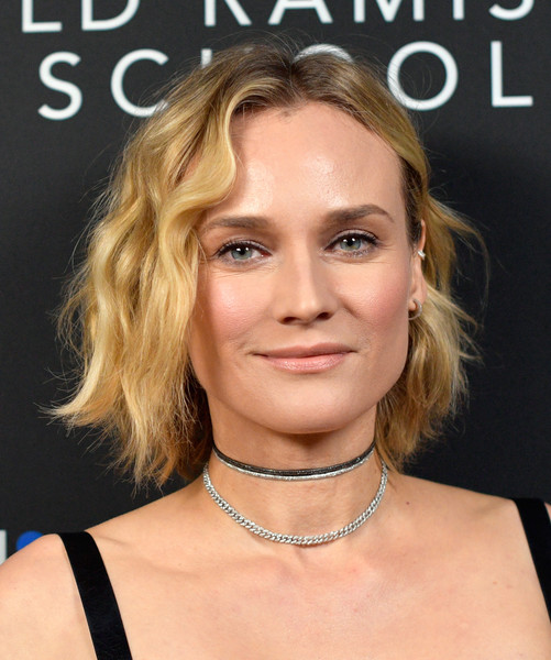 Diane Kruger Short Wavy Cut [hair,face,blond,hairstyle,eyebrow,chin,skin,beauty,lip,necklace,indiewire honors - arrivals,inaugural indiewire honors,los angeles,california,diane kruger]