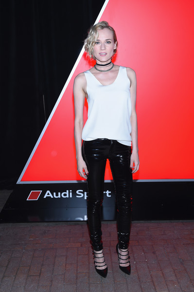 Diane Kruger Tank Top [red,fashion,fashion show,footwear,performance,fashion design,event,fashion model,model,runway,audi sport unveils new model,diane kruger,audi sport,new york city,highline stages,launch event,new york international auto show]