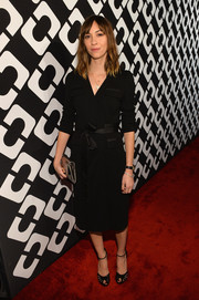 Gia Coppola paired her LBD with black evening sandals for total elegance.