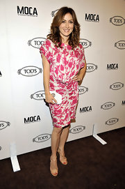 Sasha Alexander delighted in a feminine pink and white floral print dress.