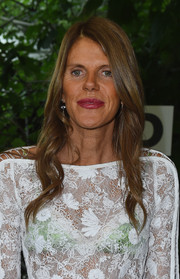 Anna dello Russo went for a ladylike vibe with this wavy hairstyle teamed with a lace dress during the Diesel Black Gold fashion show.