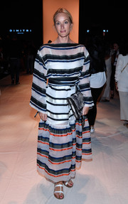 Anne Meyer-Minnemann made a bold statement with this baggy striped dress at the Dimitri fashion show.