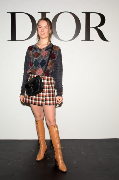 Alexandra of Hanover looked preppy in an argyle sweater at the Dior Spring 2021 show.