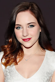 Haley Ramm showed off her red ombre highlights with this shoulder-length wavy 'do.