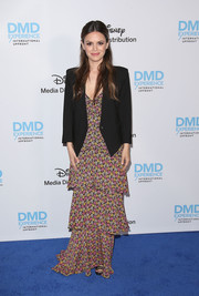 Rachel Bilson went boho in a tiered maxi dress by A.L.C. at the Disney/ABC International Upfronts.