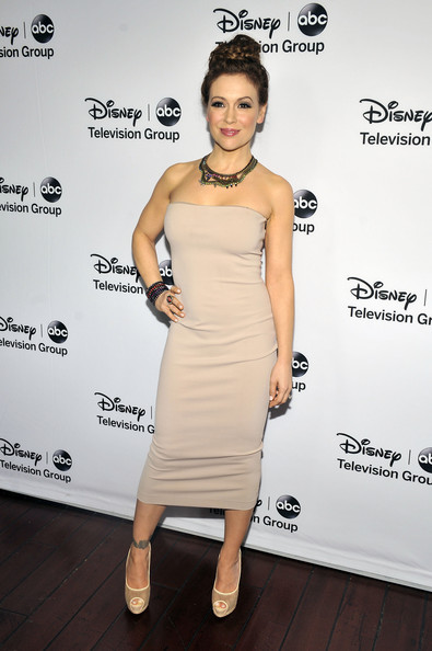 More Pics of Alyssa Milano Braided Bun (4 of 9) - Alyssa Milano Lookbook - StyleBistro