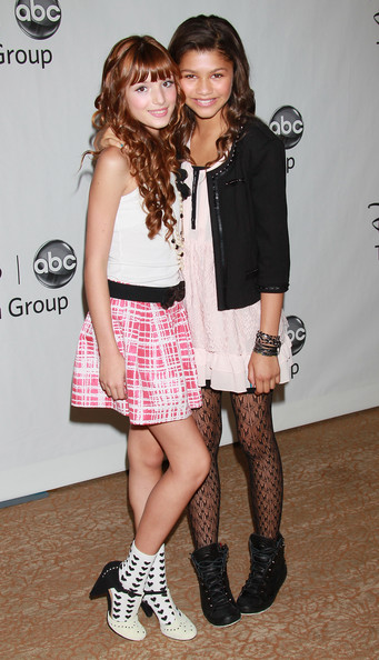 More Pics of Zendaya Coleman Tights (3 of 6) - Pajamas & Intimates Lookbook - StyleBistro [clothing,fashion,footwear,leg,fashion model,knee,thigh,joint,tights,shoe,arrivals,actresses,zendaya coleman,bella thorne,disney,abc television group,summer tca party,summer tca,l,party]